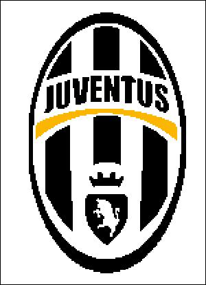 Схема для вышивки крестом: эмблема ФК Ювентус