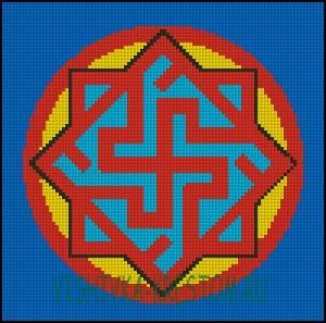 Схема для вышивки крестом: Валькирия