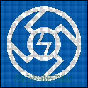 Схема для вышивки крестом: Ведара