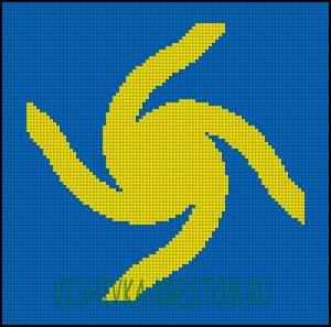 Схема для вышивки крестом: Велесовик