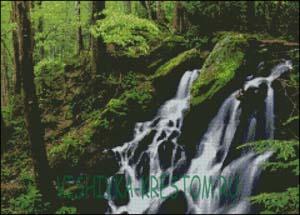 Схема для вышивки крестом: Лесной водопад