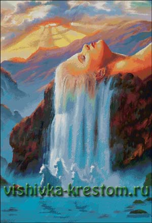 Схема для вышивки крестом: Водопад Дж. Уоррена