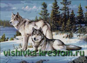 Схема для вышивки крестом: Волчье время