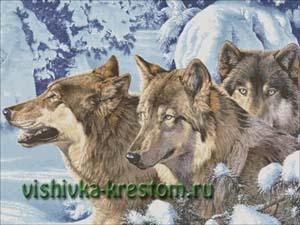 Схема для вышивки крестом: Волки