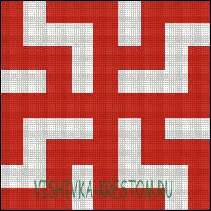 Схема для вышивки крестом: Символ зайчик