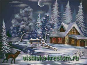 Вышивка крестом Зимняя сказка