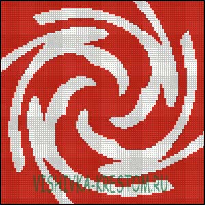 Схема для вышивки крестом: Знич