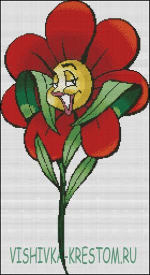 Схема для вышивки крестом: Цветик