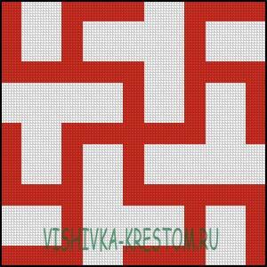 Схема для вышивки крестом: Цветок Папоротника