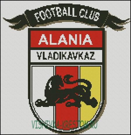 вышивка эмблемы ФК Алания