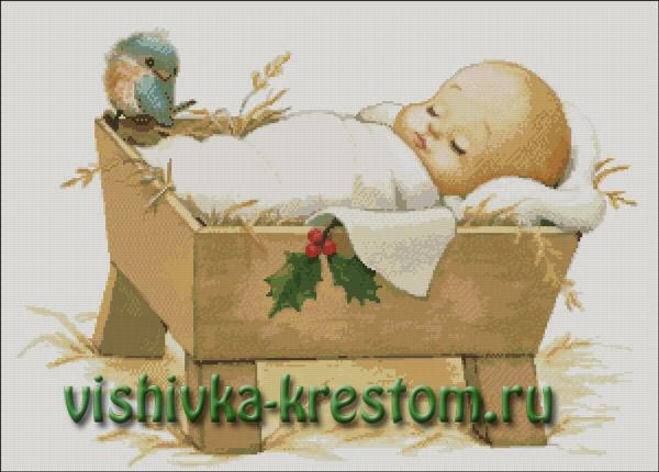 Вышивка крестом Милый малыш