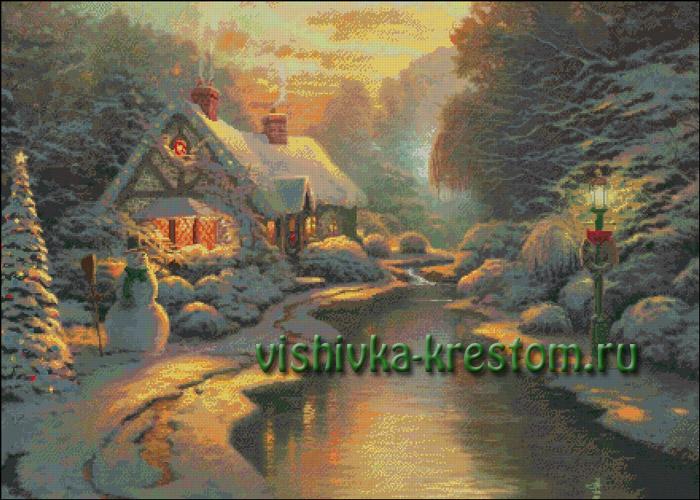 Вышивка крестом Рождественский