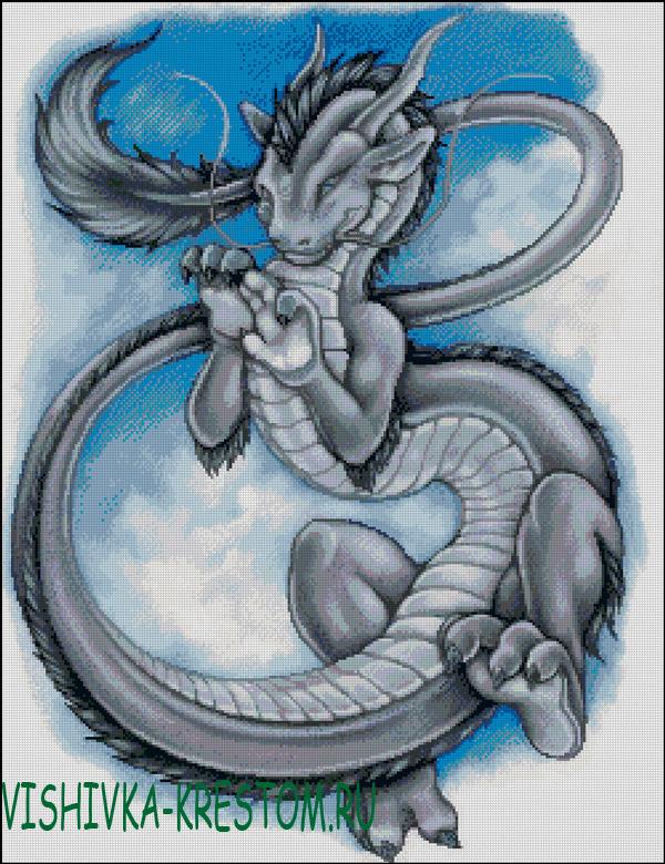 Вышивки крестом схемы бесплатно драконов
