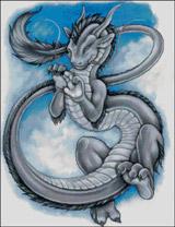 Вышивка крестом Китайский дракон