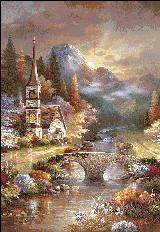 вышивка больших картин крестом
