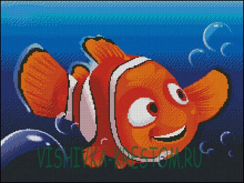 Вышивка крестом Рыбка