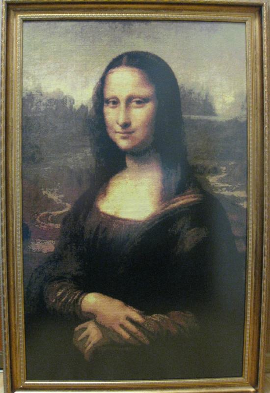 Вышивка крестом Мона Лиза