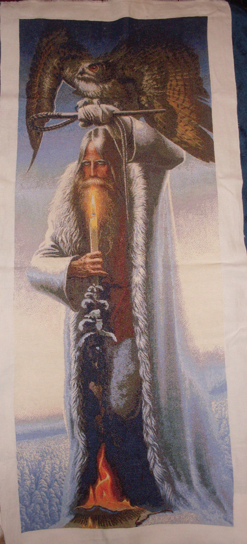 Вышивка крестом Человек с Филином