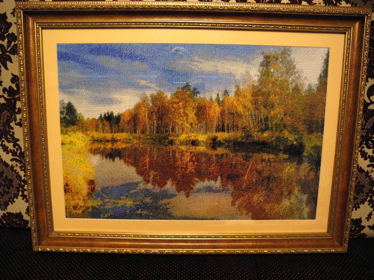 Вышивка крестом Осенний пейзаж