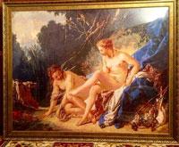 Вышитая картина Диана после купания