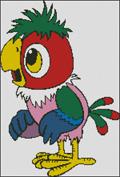 Вышивка крестом попугай Кеша
