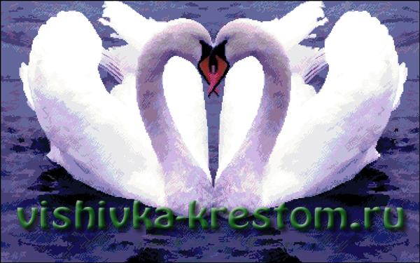 Вышивка крестом Лебединая