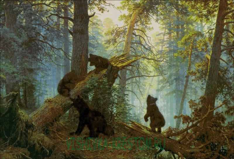 Вышивки крестом лес бесплатно