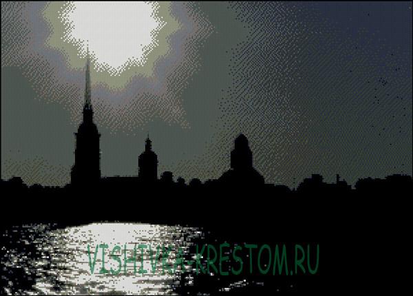 Вышивка крестом Ночной Санкт-