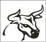 Вышивка крестом Бык