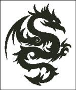 Вышивка крестом Дракон