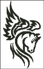 Вышивка крестом Пегас