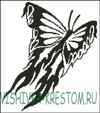 Наборы для вышивки крестом бабочка