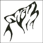 Вышивка крестом Волк монохром