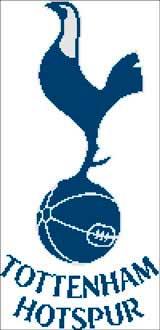 Вышивка крестом Эмблема футбольного клуба  Тоттенхэм Хотспур