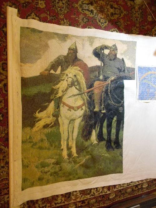 Вышивка крестом Три богатыря