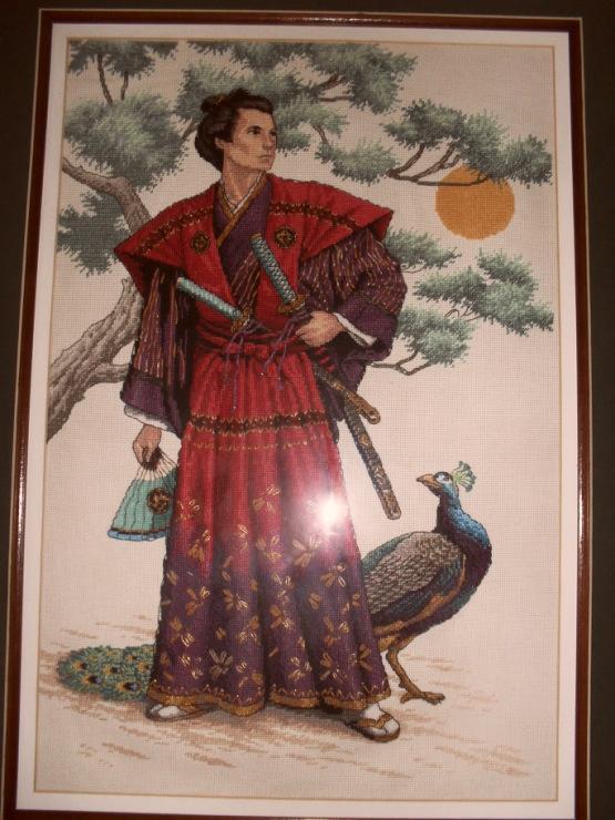 вышивка по оригинальному набору Величественный самурай