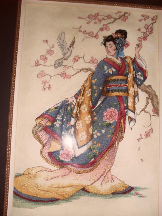 вышивка по оригинальному набору Восточное изящество