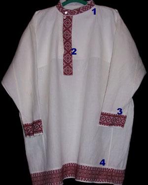 Одежда у славян вышивка