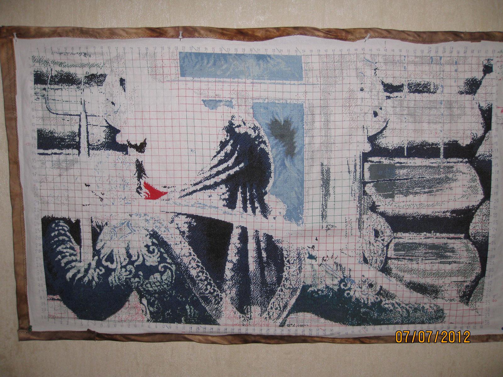 Вышивка крестом У чужого окна