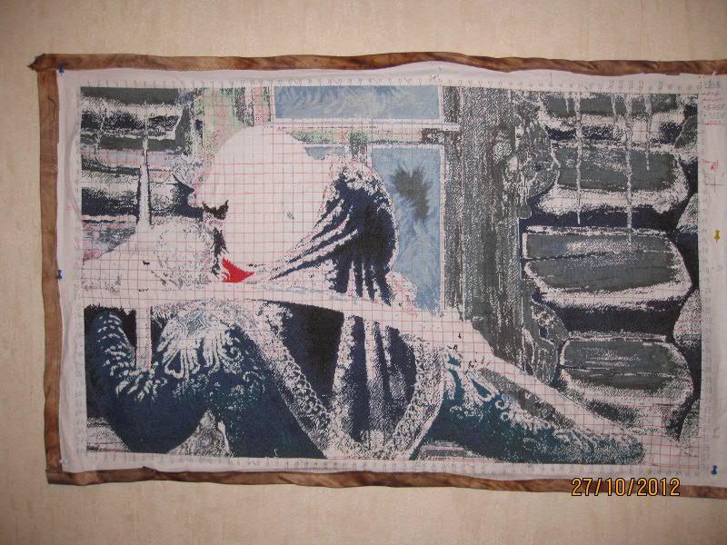 Вышивка крестом У чужого окна 2