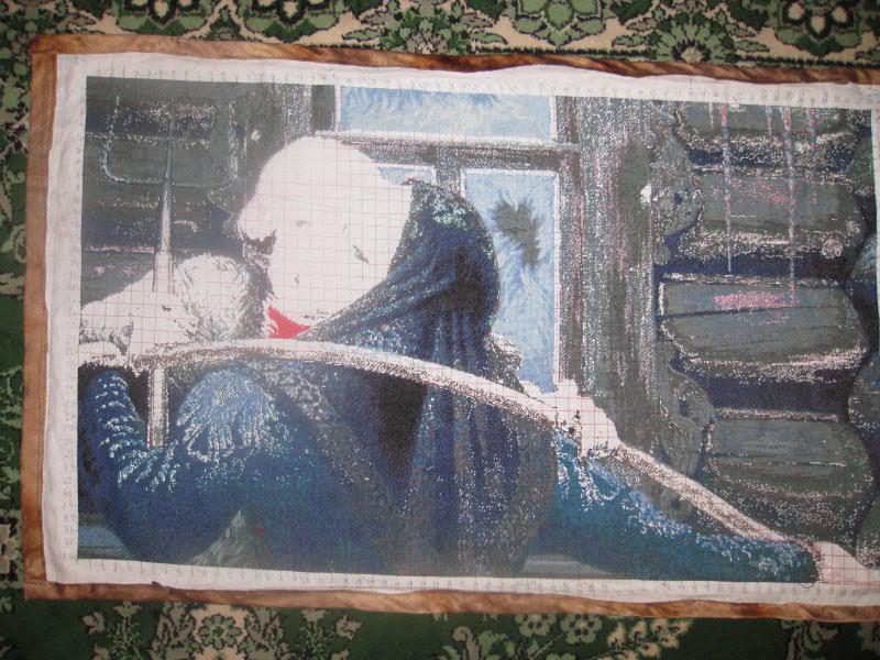 Вышивка крестом У чужого окна 3